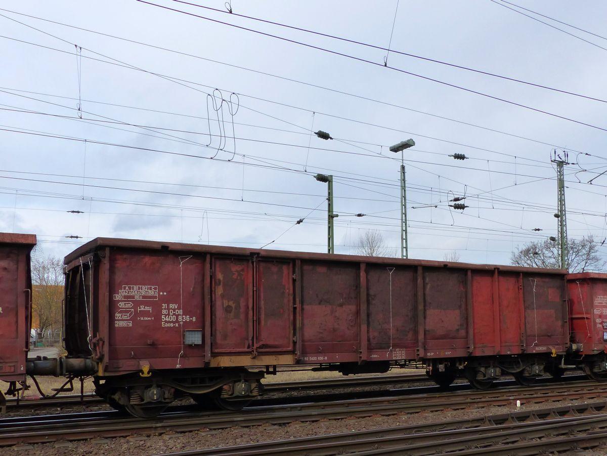 Eaos-x offener Drehgestell-Wagen mit Nummer 31 RIV 80 D-DB 5400 836 ...