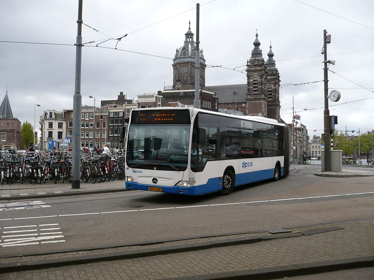 gvba bus 318 mercedes benz o 530 g citaro le baujahr 2007 stationsplein amsterdam 22 04 2015. Black Bedroom Furniture Sets. Home Design Ideas