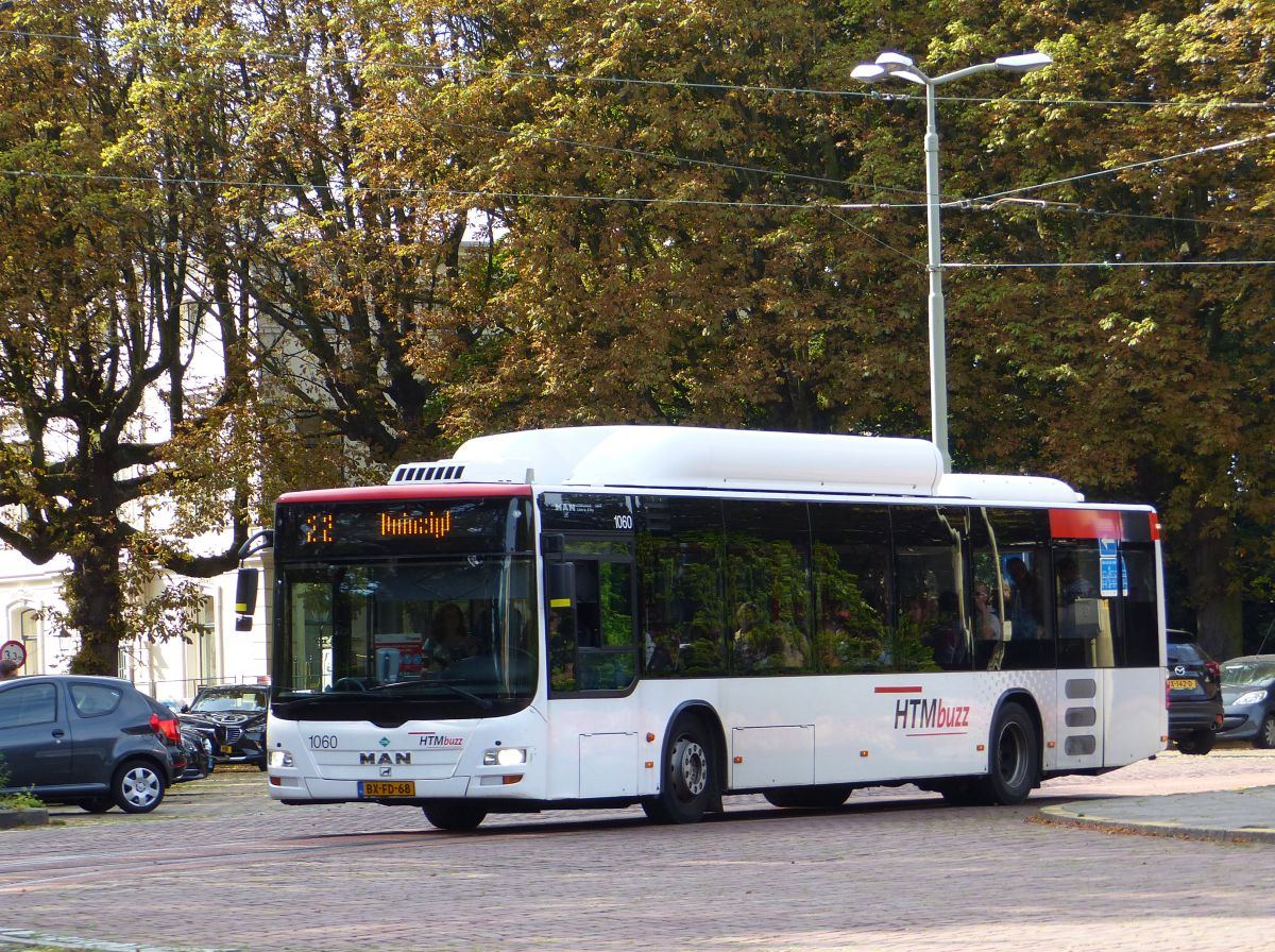 HTMBuzz Bus 1060 MAN NL243 Lion`s City CNG Baujahr 2009. Plein 1813, Den Haag 18-09-2016.