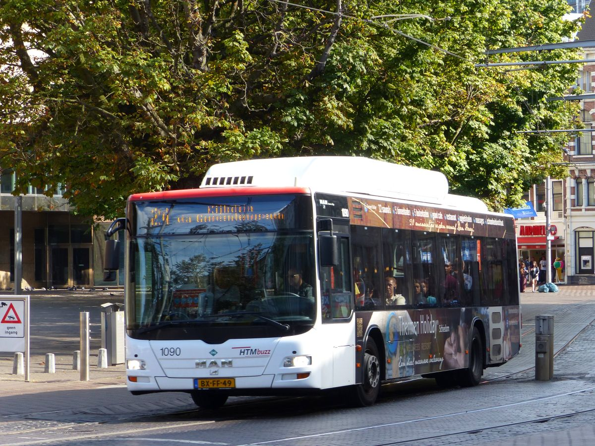 HTMbuzz Bus 1090 MAN Lion's City Baujahr 2010. Hofweg, Den Haag 18-09-2016.