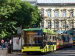 lviv-o-busse/565618/lkp-105111001074111010741089110010821077-1082108610841091108510721083110010851077-108711101076108710881080110810841089109010741086-let-lviv LKP (Львівське комунальне підприємство) LET (Lviv Elektro Trans) O-Bus 118 Elektron Т19101 Baujahr 2016. Universitetska Strasse, Lviv, Ukraine 08-09-2016.