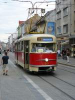 bratislava/15935/museumfahrzeug-215-auf-der-obchodn-in Museumfahrzeug 215 auf der Obchodná in Bratislava 20-08-2008.